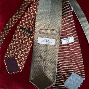 Lot of 3 ties Valentino, Neiman Marcus, Louis Roth